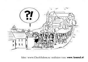 1. Karikatur mit Text